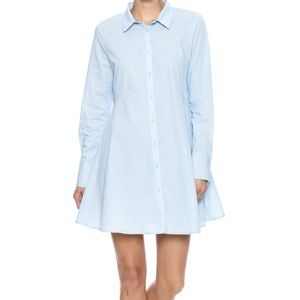 FRNCH Shirt Dress in Blue Large